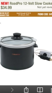 Road-Pro 12-Volt Car Slow-Cooker